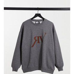 Inspired - Sweat-shirt unisexe avec logo brodé - Anthracite chiné - Reclaimed Vintage - Modalova