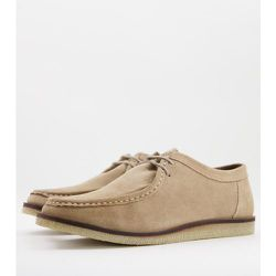 Chaussures à lacets casual en daim - Beige - Silver Street - Modalova