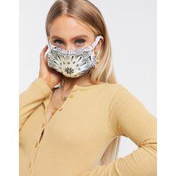 Masque en tissu à imprimé bandana - Lilas - Sixth June - Modalova