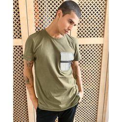 T-shirt cargo réfléchissant - Kaki - Sixth June - Modalova