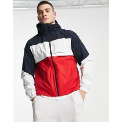 Global - Veste effet color block à capuche en tissu technique - Tommy Hilfiger - Modalova