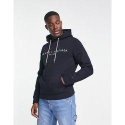 Hoodie avec logo drapeau brodé - Bleu - Tommy Hilfiger - Modalova