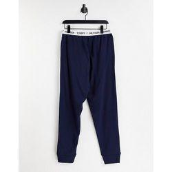 Jogger skinny avec taille à logo - Bleu - Tommy Hilfiger - Modalova