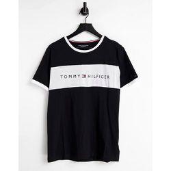 T-shirt confort avec logo rayé sur la poitrine - Tommy Hilfiger - Modalova