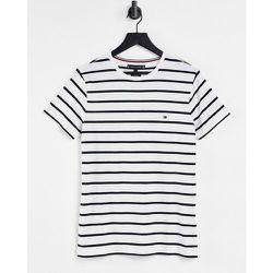 T-shirt coupe slim à rayures - Tommy Hilfiger - Modalova