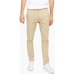 Pantalon chino skinny stretch - Taupe - Topman - Modalova