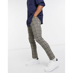 Pantalon habillé slim à carreaux - Topman - Modalova
