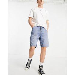 Short en jean style charpentier à délavage moyen - Topman - Modalova
