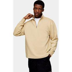 Sweat-shirt d'ensemble à demi-fermeture éclair - Taupe - Topman - Modalova
