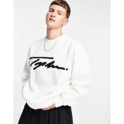 Sweat-shirt d'ensemble à détail signature brodé - Écru - Topman - Modalova