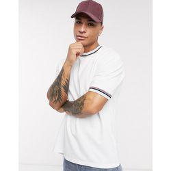 T-shirt oversize à bordures contrastantes - Topman - Modalova