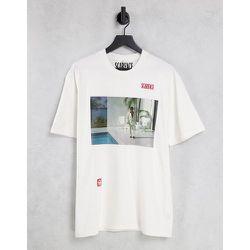 T-shirt oversize à imprimé piscine et Scarface - Écru - Topman - Modalova