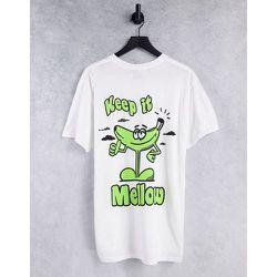 T-shirt oversize avec imprimé Keep It Mellow sur le devant et au dos - Topman - Modalova
