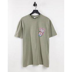 T-shirt oversize avec imprimé Rolling Stones - Topman - Modalova