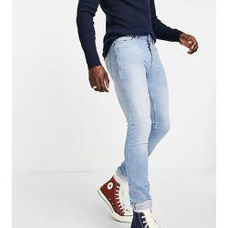 Tall - Jean skinny stretch en coton biologique mélangé - Délavage clair - Topman - Modalova