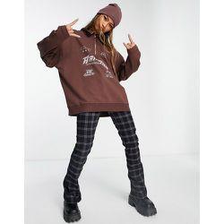 Arizona - Sweat-shirt zippé à col cheminée - Chocolat - Topshop - Modalova