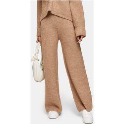 Pantalon d'ensemble large en maille - Camel - Topshop - Modalova