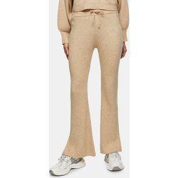 Pantalon évasé en laine mélangée - Topshop - Modalova