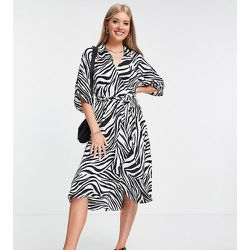 Tall - Robe chemise à imprimé zébré - Topshop - Modalova