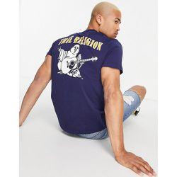 T-shirt ras de cou à logo - Bleu - True Religion - Modalova