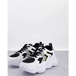 Baskets de course chunky style sport - et blanc - Truffle Collection - Modalova