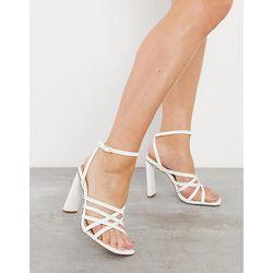 Sandales à talon plat et à brides - Truffle Collection - Modalova
