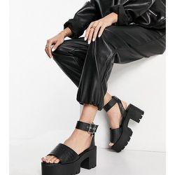 Sandales chunky pointure large à talon - Truffle Collection - Modalova
