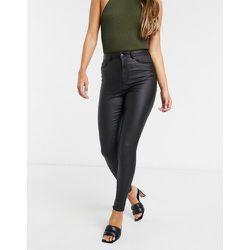 Jean skinny enduit taille haute - Vero Moda - Modalova