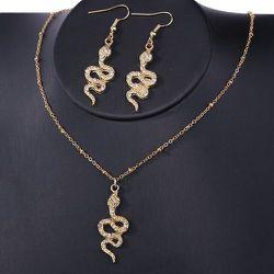 Ensemble collier et boucles d'oreilles pendentif serpent - SHEIN - Modalova