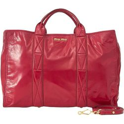 Patent Satchel Leather Calf , , Taille: Onesize - Miu Miu Pre-owned - Modalova