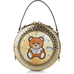 Teddy Bear Watch Satchel Patent Leather , , Taille: Onesize - Moschino Pre-owned - Modalova