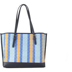 Striped Jacquard Canvas Fabric Mollie Shoulder Tote Handbag - Coach - Modalova
