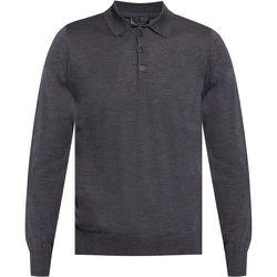 Wool polo shirt , , Taille: 50 IT - Emporio Armani - Modalova