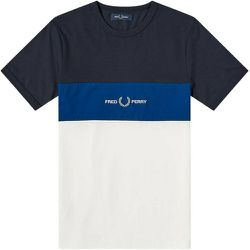 Authentic Embroidered Logo Colour Block T-shirt , , Taille: XL - Fred Perry - Modalova