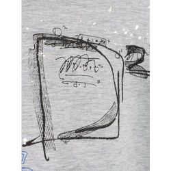 Distressed-effect scribble T-shirt , , Taille: XL - Dsquared2 - Modalova