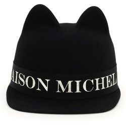Jamie hat with logo , , Taille: S - Maison Michel - Modalova