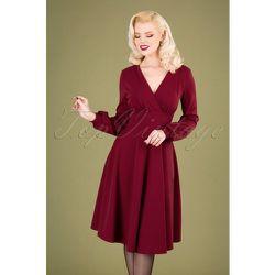 Helaine Swing Dress Années 50 en Bordeaux - vintage chic for topvintage - Modalova