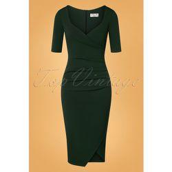 Selene Pencil Dress Années 50 en Sapin - vintage chic for topvintage - Modalova
