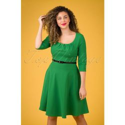 Felice Swing Dress Années 50 en Émeraude - vintage chic for topvintage - Modalova