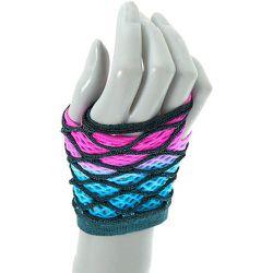 Gants avec couche de résille et dégradé et bleu - Claire's - Modalova