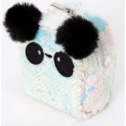 Porte-clés mini sac à dos panda avec sequins irisés - Claire's - Modalova