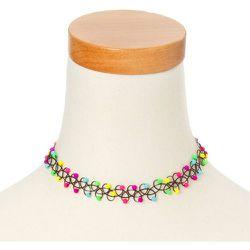 Ras-de-cou effet tatouage à perles d'imitation fluos - Claire's - Modalova