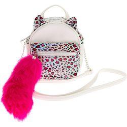 Mini sac à dos à bandoulière chat léopard holographique - Claire's - Modalova