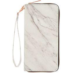 Pochette poignet zippée blanche effet marbré - Claire's - Modalova