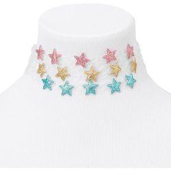 Ras-de-cou effet tatouage étoile à paillettes - Transparent, lot de 3 - Claire's - Modalova