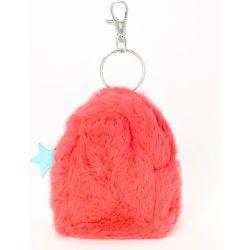 Porte-clés mini sac à dos en fausse fourrure étoile fluo - Claire's - Modalova