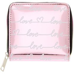 Mini porte-monnaie à zip « Love » effet miroir - Claire's - Modalova