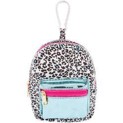 Porte-clés mini sac à dos Love imprimé léopard - Claire's - Modalova