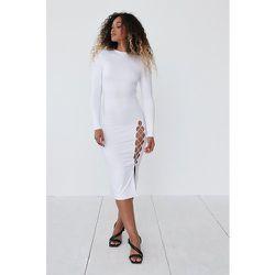 Robe À Dos Ouvert Avec Fente - White - Angelica Blick x NA-KD - Modalova