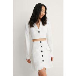 NA-KD Trend Blazer Court - White - NA-KD Trend - Modalova